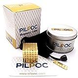 PILPOC Magnetic Cube Desk Toy (222 pcs), Prime Quality Fidget Toys Fidget Cube, Ideal Office Stress Relief Executive Desk Toy, Magic Square Fidget Magnets (Gold)