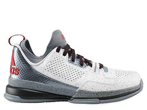 adidas D LILLARD FTWR WHITE/GREY/SCARLET