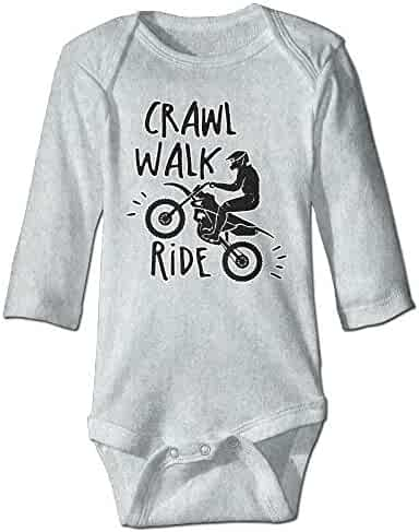 ee2f7a7d2d7 Funny Motorcycle Off-road Race Unisex Baby 100% Cotton Long Sleeve Romper  Clothes Outfits