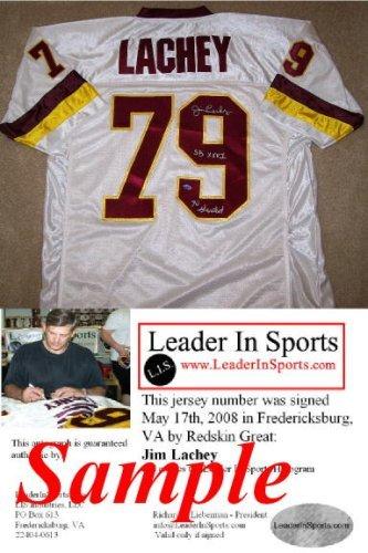 8a668eb57c8 Jim Lachey Autographed Jersey - Washington Redskins - Ohio State ...