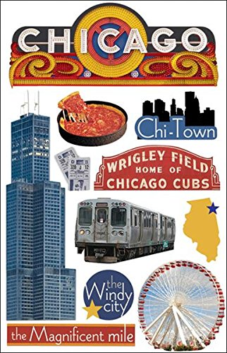 Chicago Sticker (Paper House Productions STDM-0089E 3D Cardstock Stickers, Chicago)
