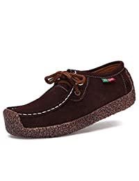 Meeshine Womens Casual Moccasins Driving loafers Slip On Flat Shoes