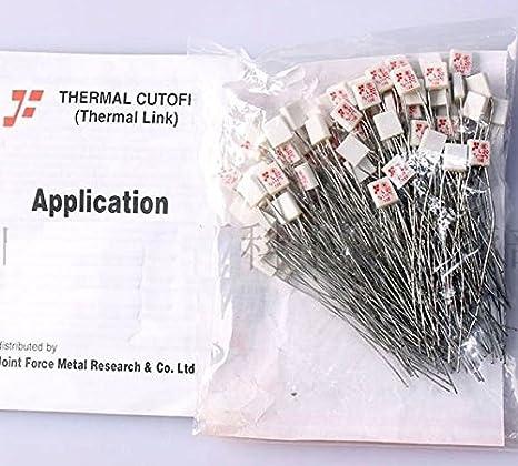 10Pcs New M20 TF 115℃ Thermal Fuse 250V 2A SP