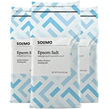 Amazon Brand - Solimo Epsom Salt Soaking Aid, 8 Pound (Pack of 3)