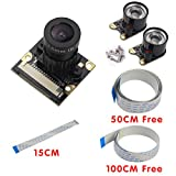 SHCHV Raspberry Pi Camera Focal Adjustable Night Vision Camera Module for Raspberry Pi 2/3 Model B Raspberry Pi Noir camera