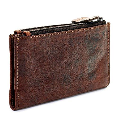 Jack Georges Voyager Slim Double Zip Wallet, Leather Card Case in Black Jack Georges Slim Briefcase