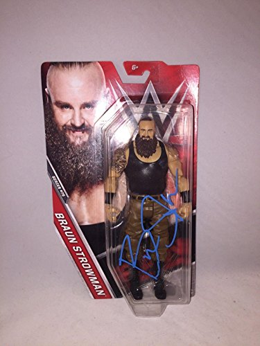 Braun Strowman Signed Wwe Mattel Action Figure Monster Among Men Rare - Autographed Wrestling Cards (Signed Action Figures)