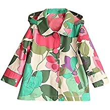 Sweety, Girls Hooded Jacket Lightweight Colorful Floral Casual Autumn Outerwear