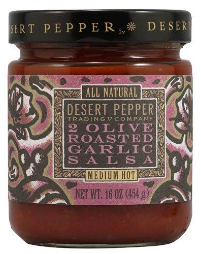 Desert Pepper Trading Salsa 2 Olive Roasted Garlic -- 16 oz - 2 pc