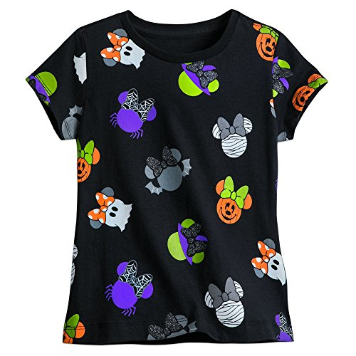 Disney Minnie Mouse Icon Halloween Tee for Girls Size M (7/8) (Minnie Mouse Halloween Pumpkin Pattern)