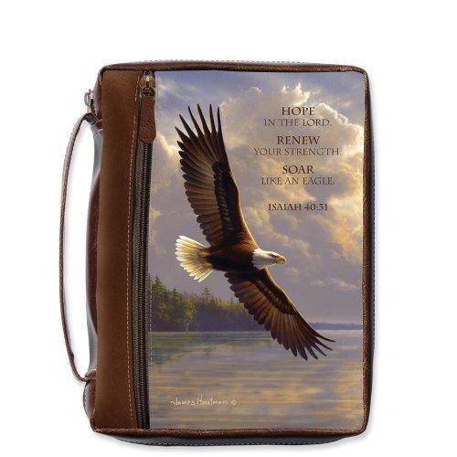 Hautman Bros Walk In Faith - Bible Cover Eagle, Large - Eagle Bible Cover