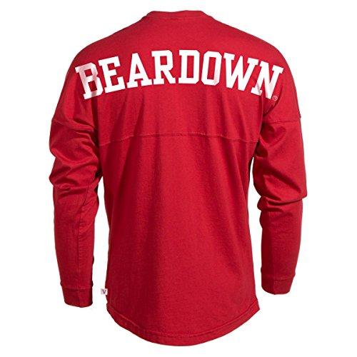 Official NCAA Venley University of Arizona Wildcats U of A Wilber Wildcat BEAR DOWN! Women's Long Sleeve Spirit Wear Jersey T-Shirt