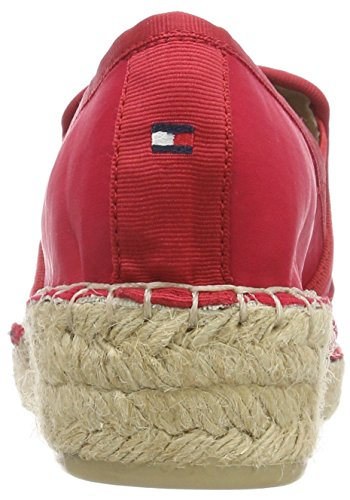 Tommy Hilfiger Damen Corporate Slip on Espadrille, Rot (Tango Red 611), 41 EU