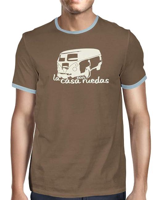 latostadora - Camiseta Retro la Casa con Ruedas para Hombre: info: Amazon.es: Ropa y accesorios