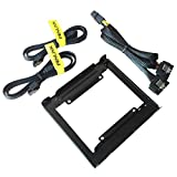 Fenlink 2.5 Inch to 3.5 Inch hard Disk SSD Drive Mounting Bracket Kit (Power and SATA Cables included)