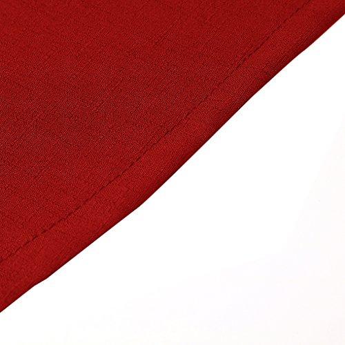 Providethebest Della Abito Poliestere neck Donne Del Senza Anteriore Tasto Maniche Vestito Longuette Rosso Swing Parte V Legame Estate Ragazza 0nOPkw