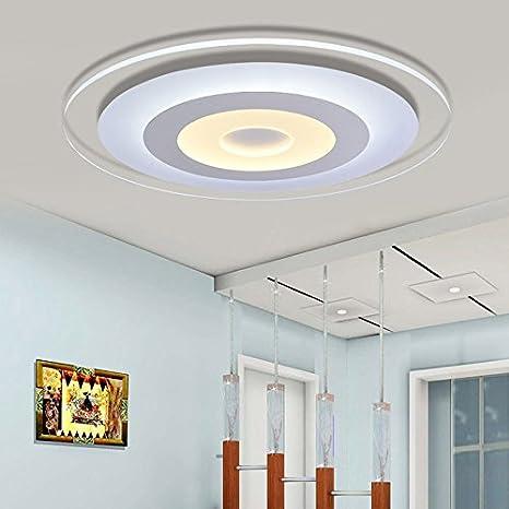 Lámpara de techo led acrílico salón con sencillas y modernas ...