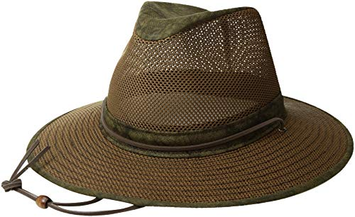 - Henschel Hats Aussie Breezer 5310 Cotton Mesh Distress Gold Hat, Large