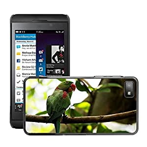 Super Stella Slim PC Hard Case Cover Skin Armor Shell Protection // M00107091 Parrots Birds Forests Greenery // BlackBerry Z10