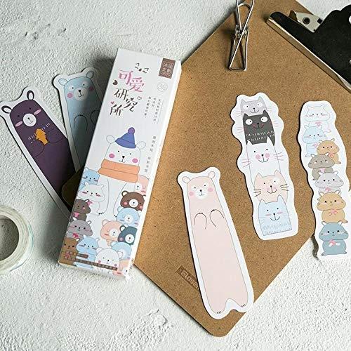 (30pcs Cartoon Family Bookmark Set Cute cat Bear Rabbit Book Marker Paper Post Card Gift Stationery Office Supplies)