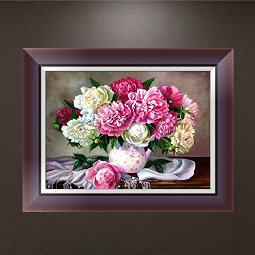 DIY 5D Diamond Painting by Number Kits, Jiayit 5D Flower Embroidery Paintings Rhinestone Pasted DIY Diamond Painting Cross Stitch (D)