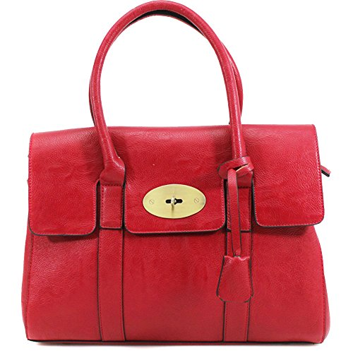 New Bag Tote Office Work Womens Shoulder Bag Handbag Red Frame UK Ladies Designer zq6av6H