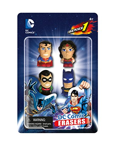 DC Comics Superhero Eraser Set A 4-Pack