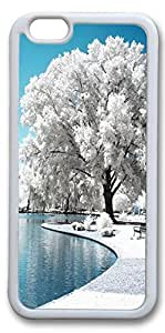 iPhone 6 Cases, Personalized Protective Case for New iPhone 6 Soft TPU White Edge Frost Tree