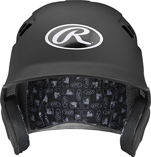 Rawlings Velo Series Alpha Sized Batting Helmet, Matte Black, (Collegiate Batting Helmet)