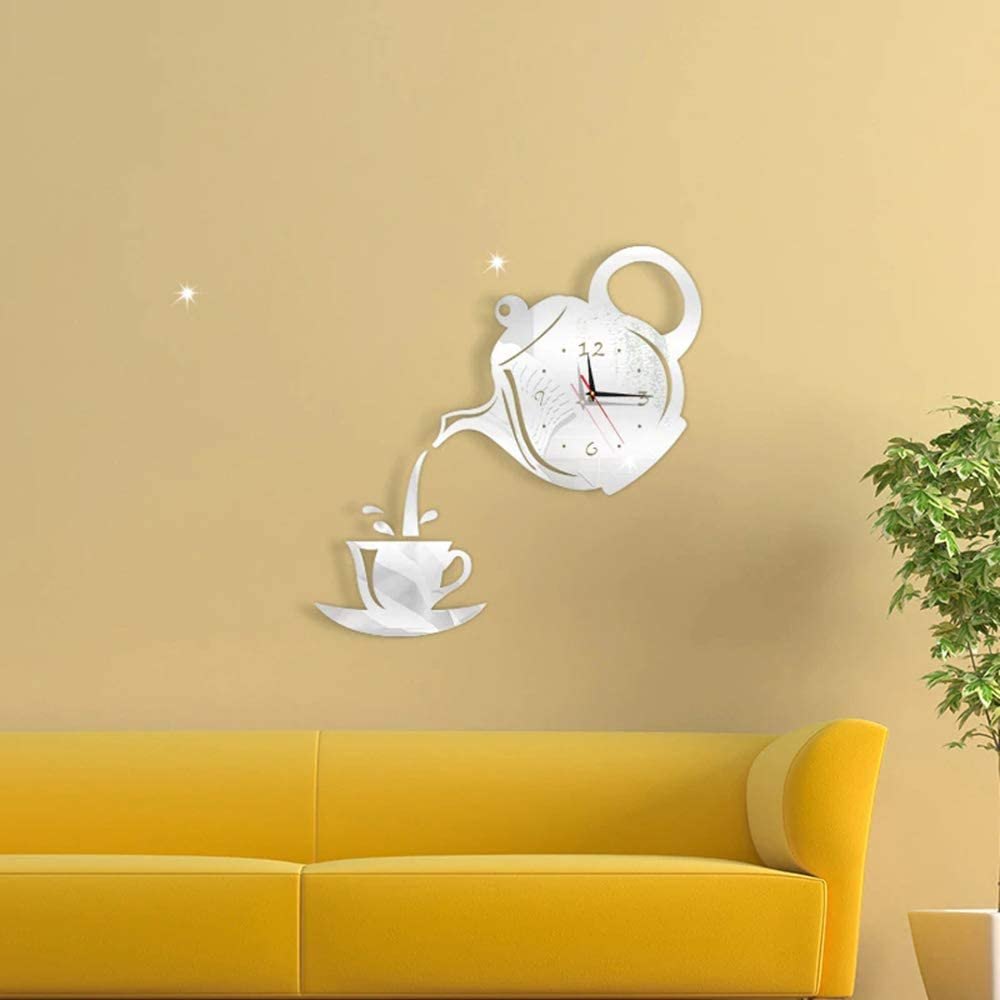 Kitchen Wall Sticker Teapot Art Decal Coffee Dining Room Home Decorations Big