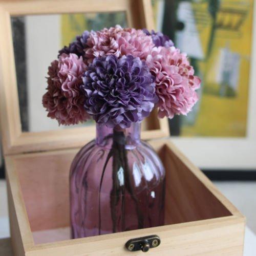 UNAKIM--Artificial Fake 5-heads Flower Peony Silk Hydrangea Home Wedding Garden - Jersey Gardens Mall Sales