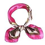 CHIDY Scarves Fashion Women Square Head Scarf Wraps Scarves Ladies Printed Kerchief Neck Scarf(I)