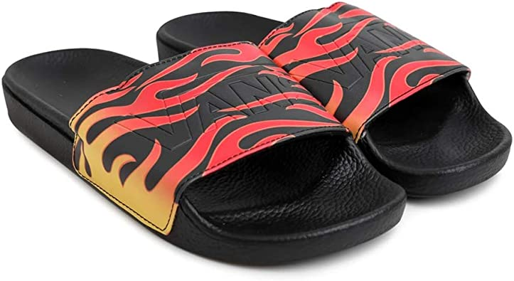 Vans Sandal (7, Black/Flame) | Slippers