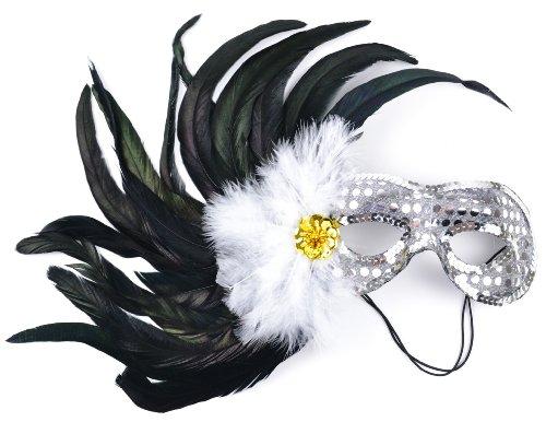 (Mask It 48031 Designer Sequin Half Mask,)
