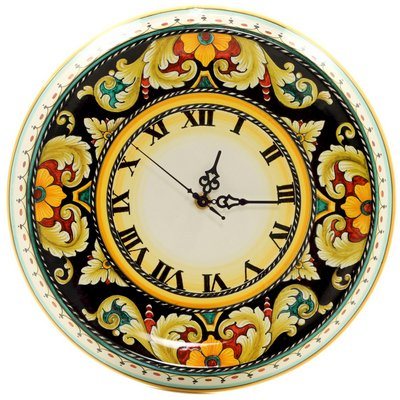 Used, DERUTA VARIO: Round Wall Clock - Dec. Foglie F. Nero for sale  Delivered anywhere in USA