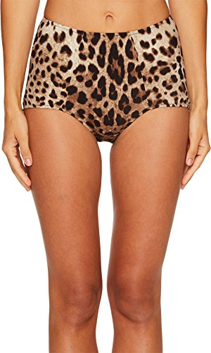 Dolce & Gabbana Women's Cheetah High Waisted Bikini Bottom Beige - Dolce And Gabbana Suits Womens