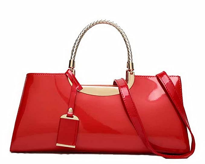 AgooLar Womens Charol Bolsas de Hombro Casual Compras Bolsos Cruzados, Rojo: Amazon.es: Ropa y accesorios
