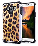 NageBee Defender Dual Layer Protector Cover for Samsung Galaxy A3, Hybrid Leopard