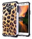 Galaxy A3 Case, NageBee - Galaxy A3 Phone Case Design Premium Heavy Duty Defender Dual Layer Protector Hybrid Cover Case for Samsung Galaxy A3 (Hybrid Leopard)