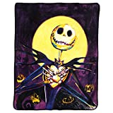 Disney's Nightmare Before Christmas, ''Pumpkin Delight'' Micro Raschel Throw Blanket, 46'' x 60'', Multi Color