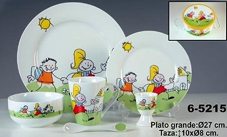 Piatti In Ceramica Per Bambini.Donregaloweb Servizio Da Tavola Per Bambini 6 Pezzi In
