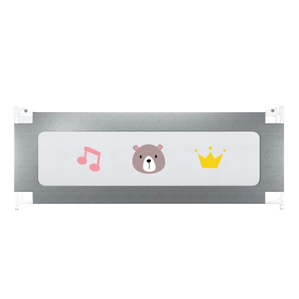 幼児用ベッドレール、子供用安全ベッドガード転倒防止ベッド、折りたたみ幼児用ベッドレール保護ガード、2m (Color : Gray)  Gray B07TNJ5R42