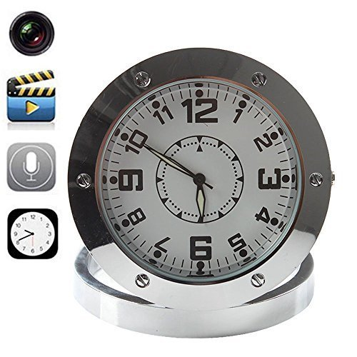 Security Alarm Desk Clock Nanny Surveillance Camera Home Security Video Camcorder (Desk Clock Camera)