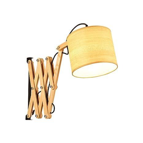 Wrought Iron Lamp Holder Fabric Light Shade Wooden Lamp Body ...
