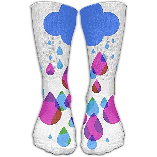 Lovely Rainy Days Women & Men Socks Soccer Sport Tube Stockings Length 30cm