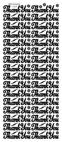 NEW BABY 1 x  THANK YOU PEEL OFF STICKERS 469  …  …CARDMAKING CRAFTING