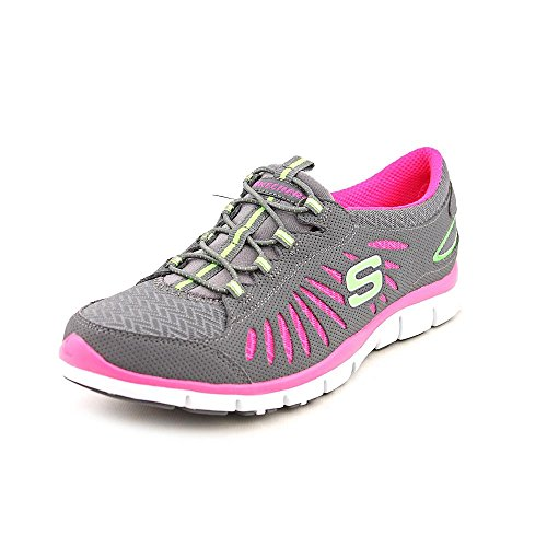 Skechers Sport Dames Gratis-in Beweging Mode Sneaker Houtskool / Hot Pink
