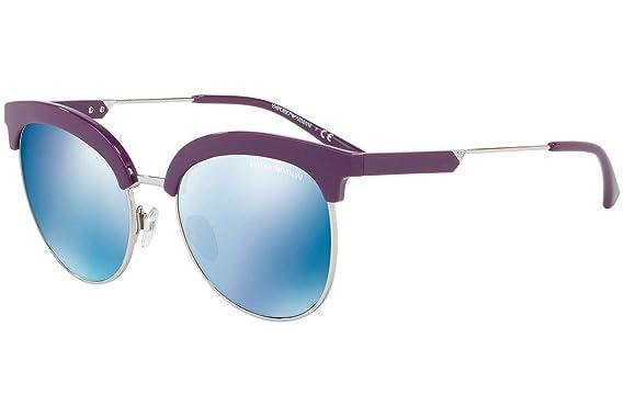 Emporio Armani EA4102 Gafas de Sol Violetas y Plateado con ...