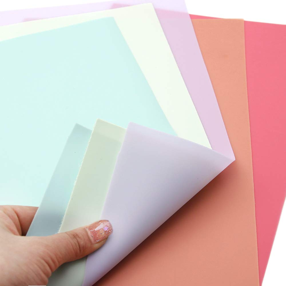 David accessories Solid Color Jelly Faux Leather Sheets Frosted Smooth Waterproof PVC Synthetic Leather Fabric 26 Pcs 8'' x 13'' (20cm x 34cm) for DIY Craft Project (26pcs Jelly Sheets) by David accessories (Image #5)