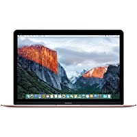 Apple MacBook (MMGL2LL/A) 256GB 12-inch Retina Display (2016) Intel Core M3 Tablet - Rose Gold (Certified Refurbished)